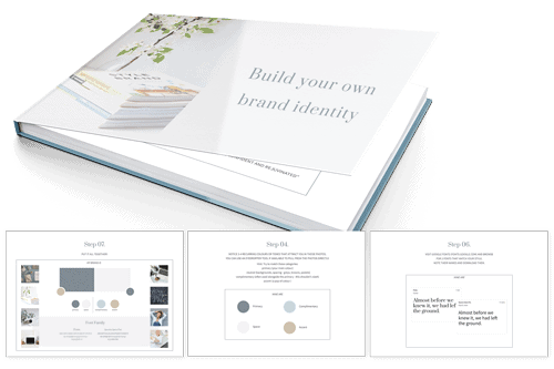 FREE DOWNLOAD: 'Follow my brand builder template to put together your own visuals, colour and font guides + persona feel and create your niche catchline!