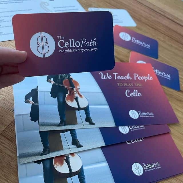 Gorgeous business cards and promotional postcards with a Spot UV (clear gloss) over the logo for an interesting, sophisticated effect.